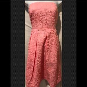 J CREW Lorelei Dress Deco Dot Pink Strapless Sun